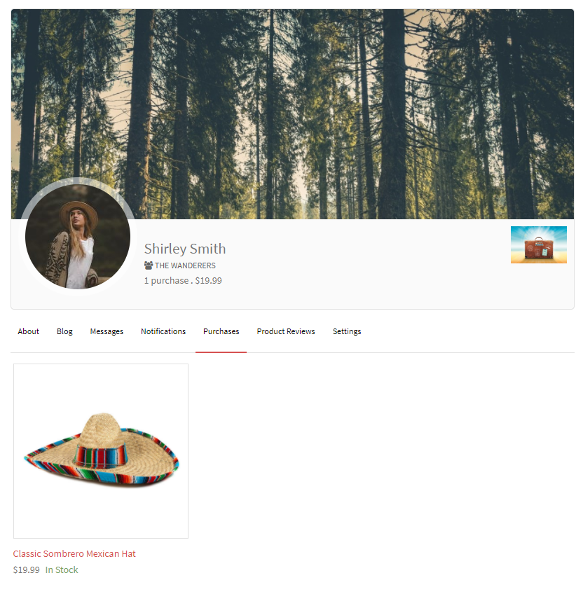 woocommerce user profiles front-end