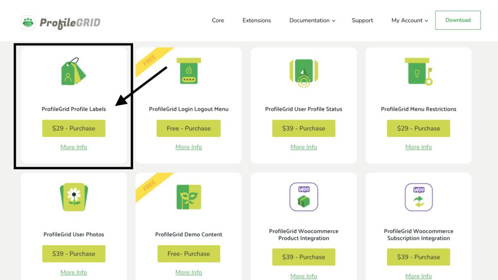 Create custom labels - Profile labels extension