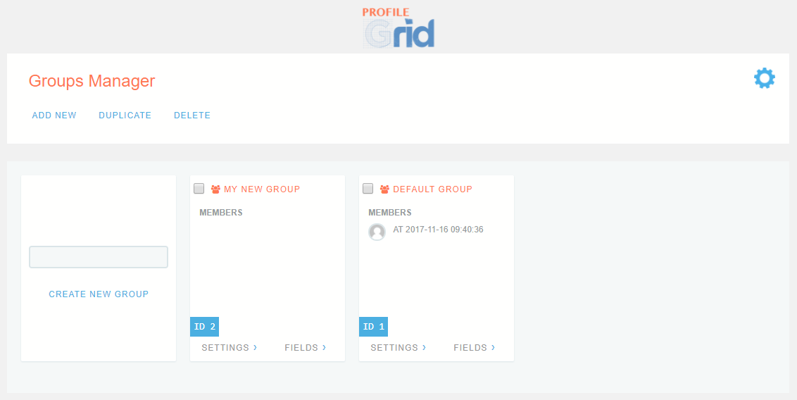 WordPress User Profiles Plugin Group Manager