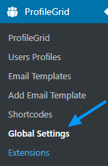 Multi-Author blog Author profiles Global Settings Menu Tab