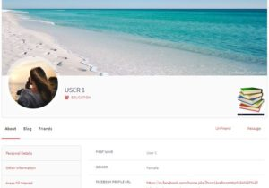 User Profile in WordPress frontend view