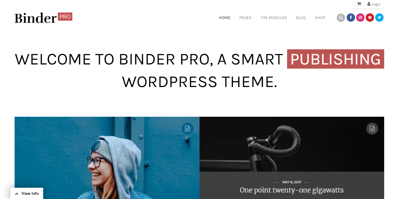 Best WordPress themes for Membership Sites binder pro