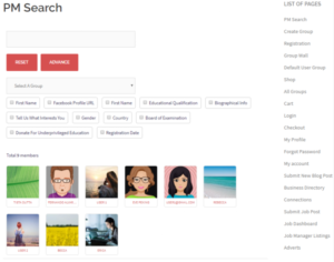 Create Staff Member Profile Page frontend results