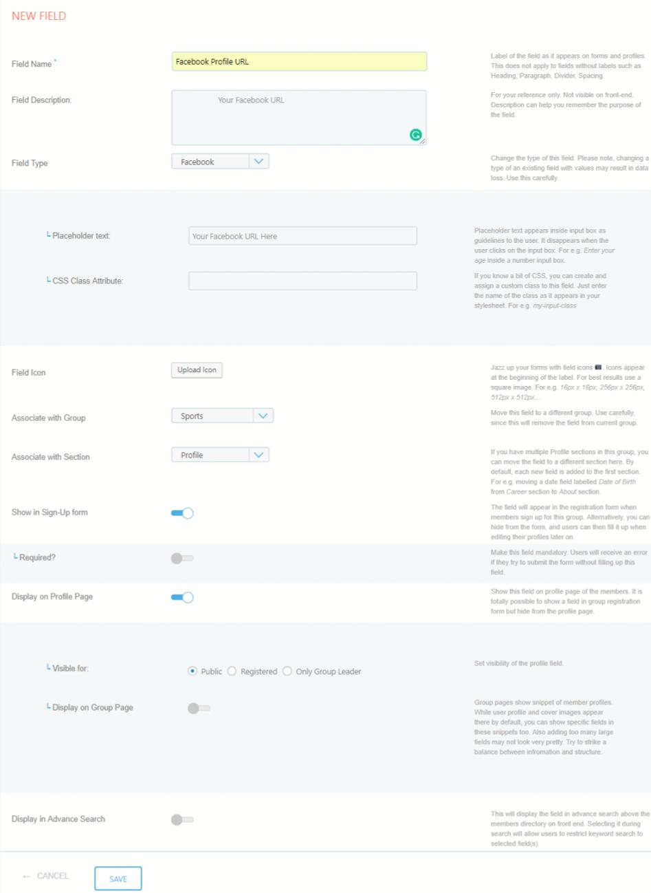 Create Custom Fields to User Profiles new field