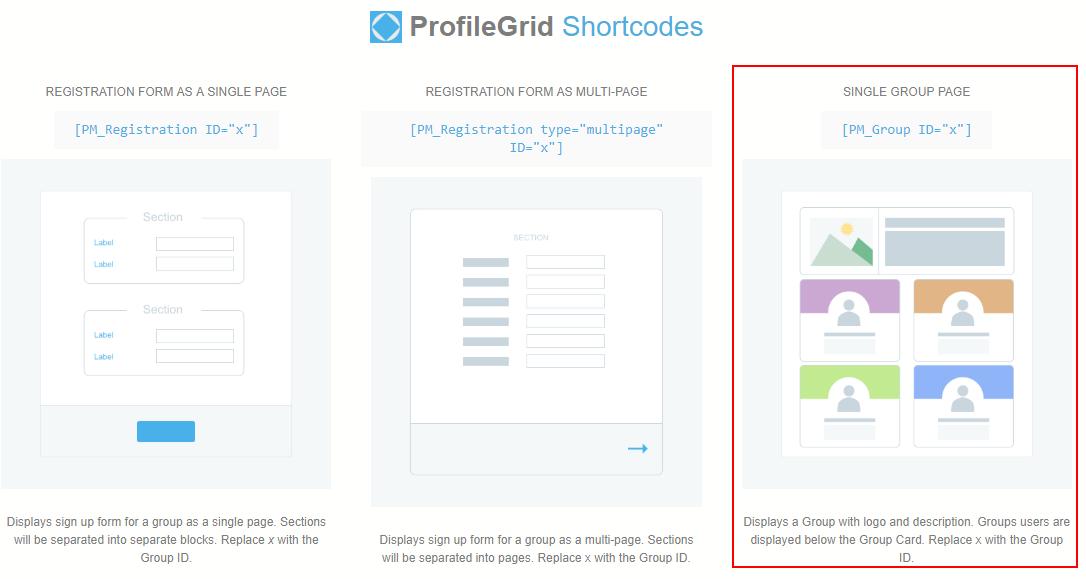 Display Members of Selected Group shortcodes
