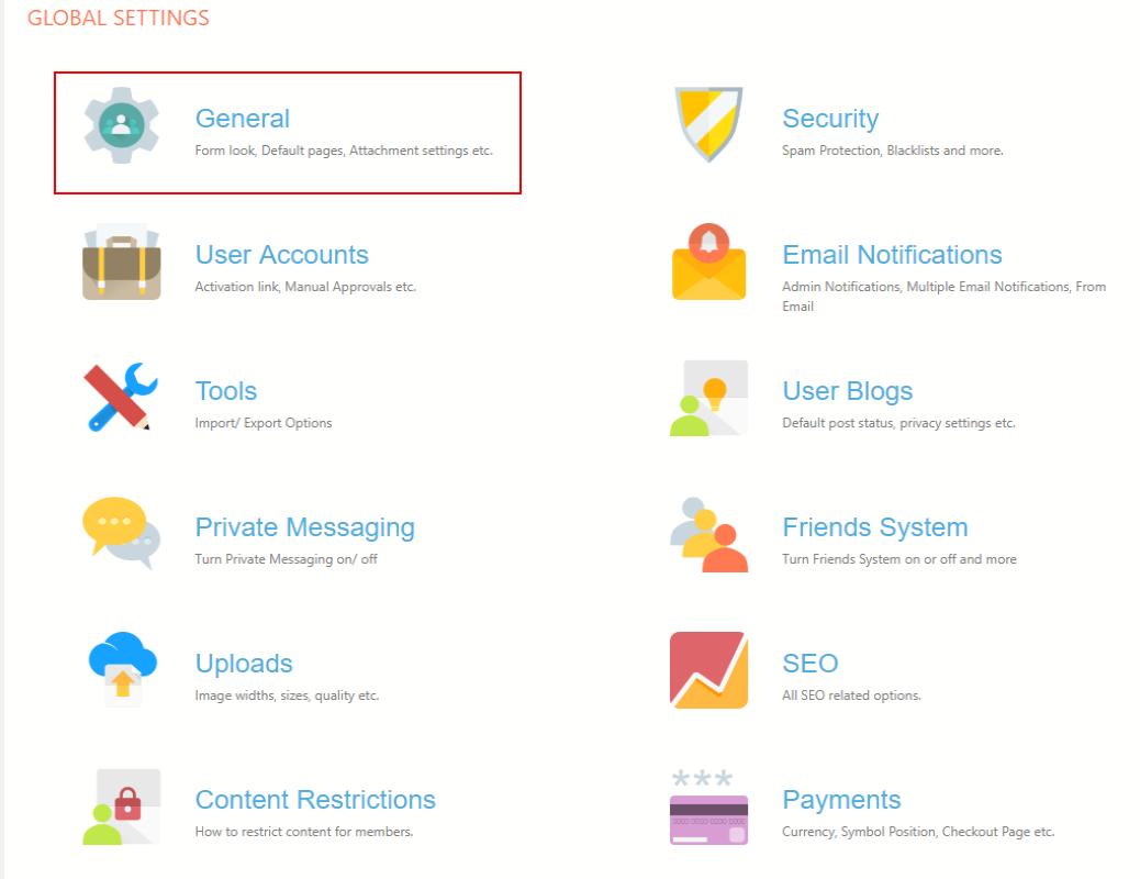 WordPress Forgot Password Page global settings
