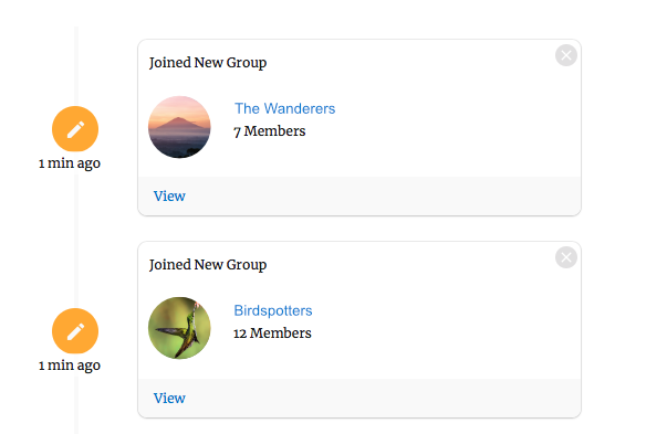 Group Joining Notification