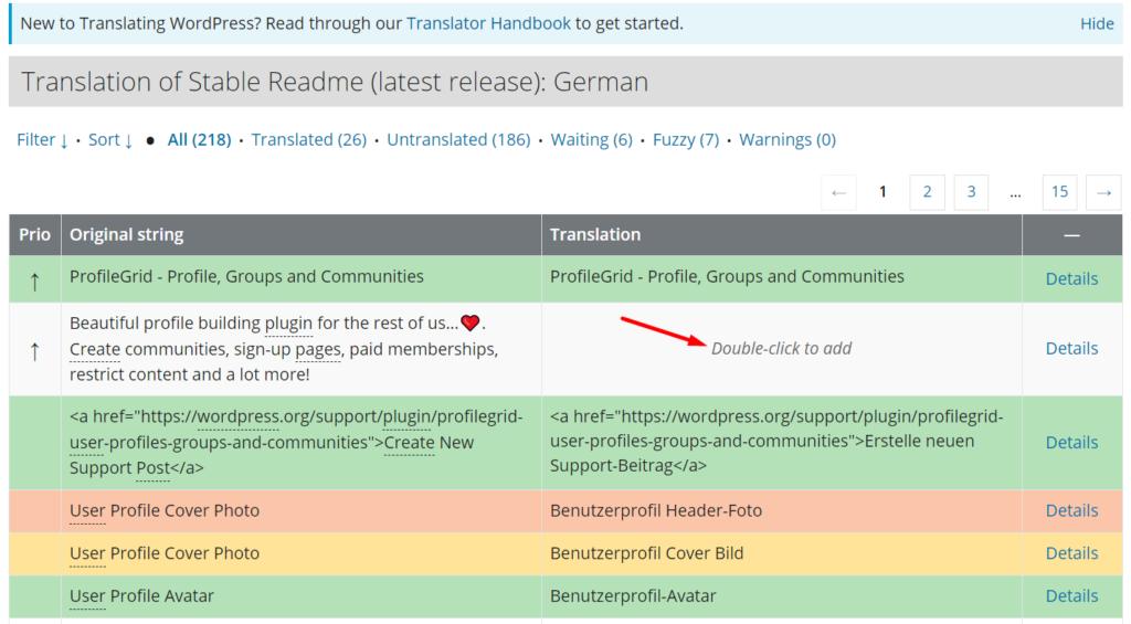 Manually add translations