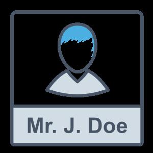 User Display Name Icon