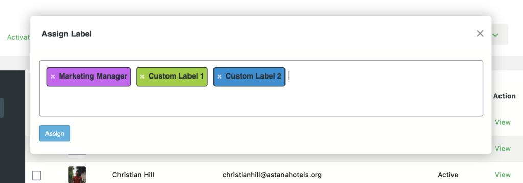 Assigning custom labels