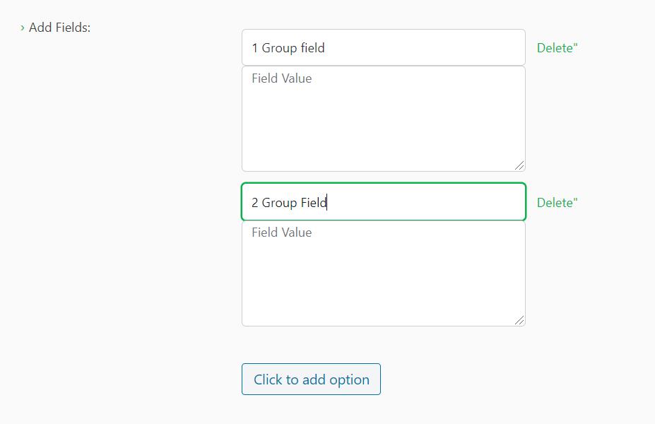 Add multiple fields