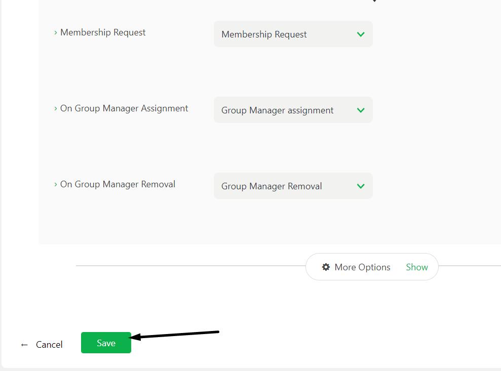 save settings custom fields