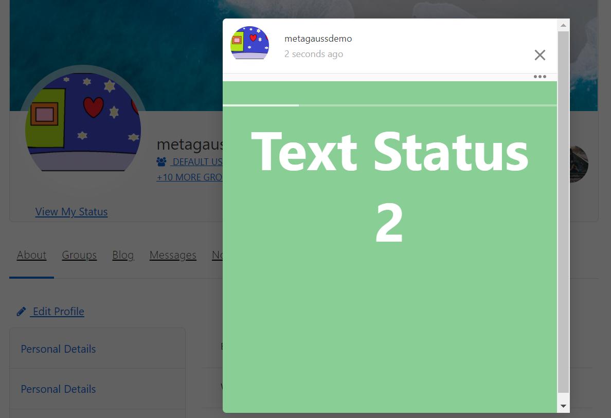 text status