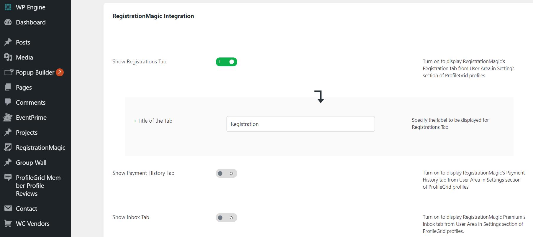 wordpress registration form