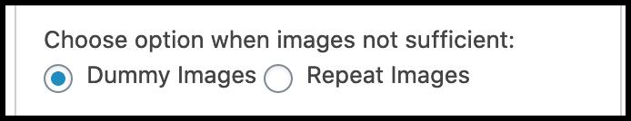 Choose Image Settings
