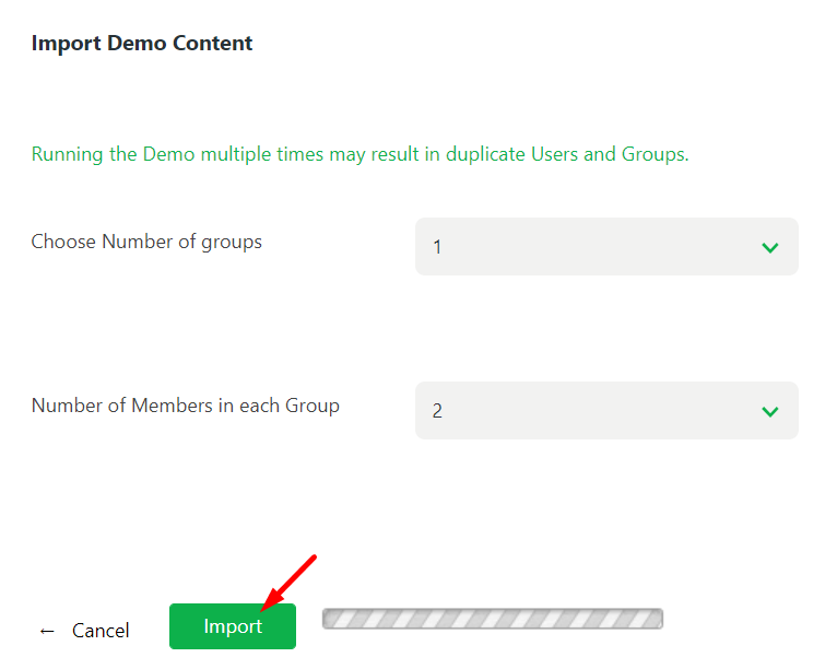 import groups with members