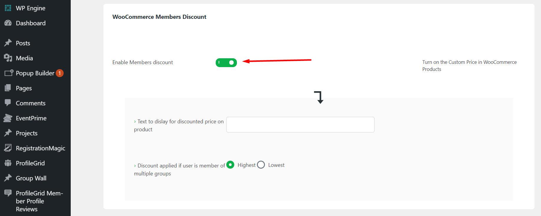 WooCommerce User Group Discount