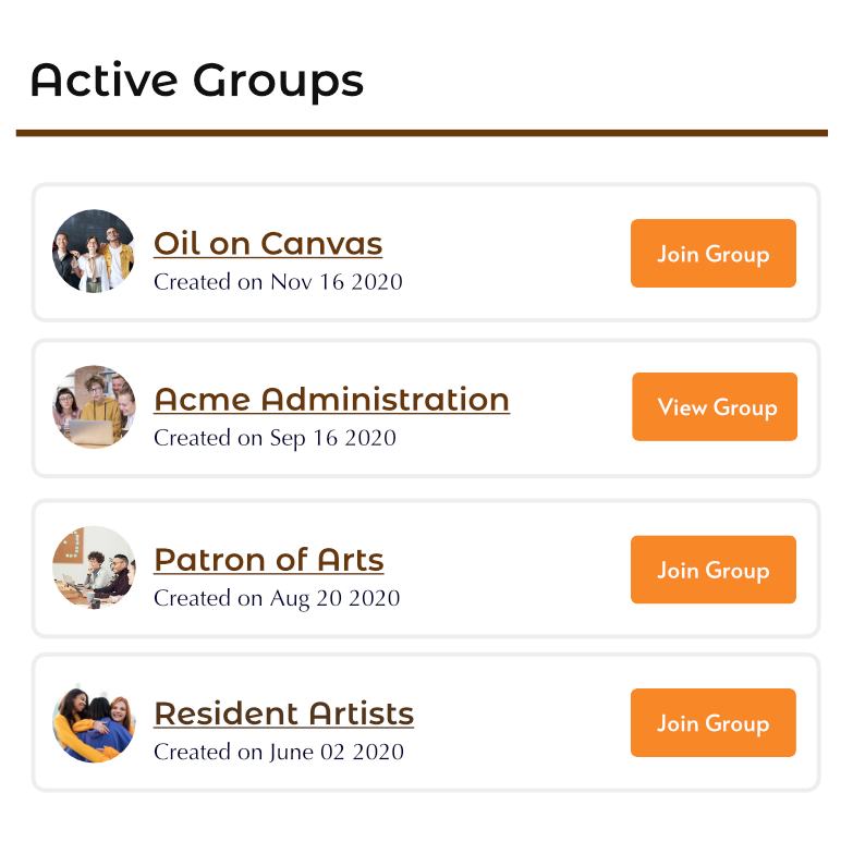 Groups Widget