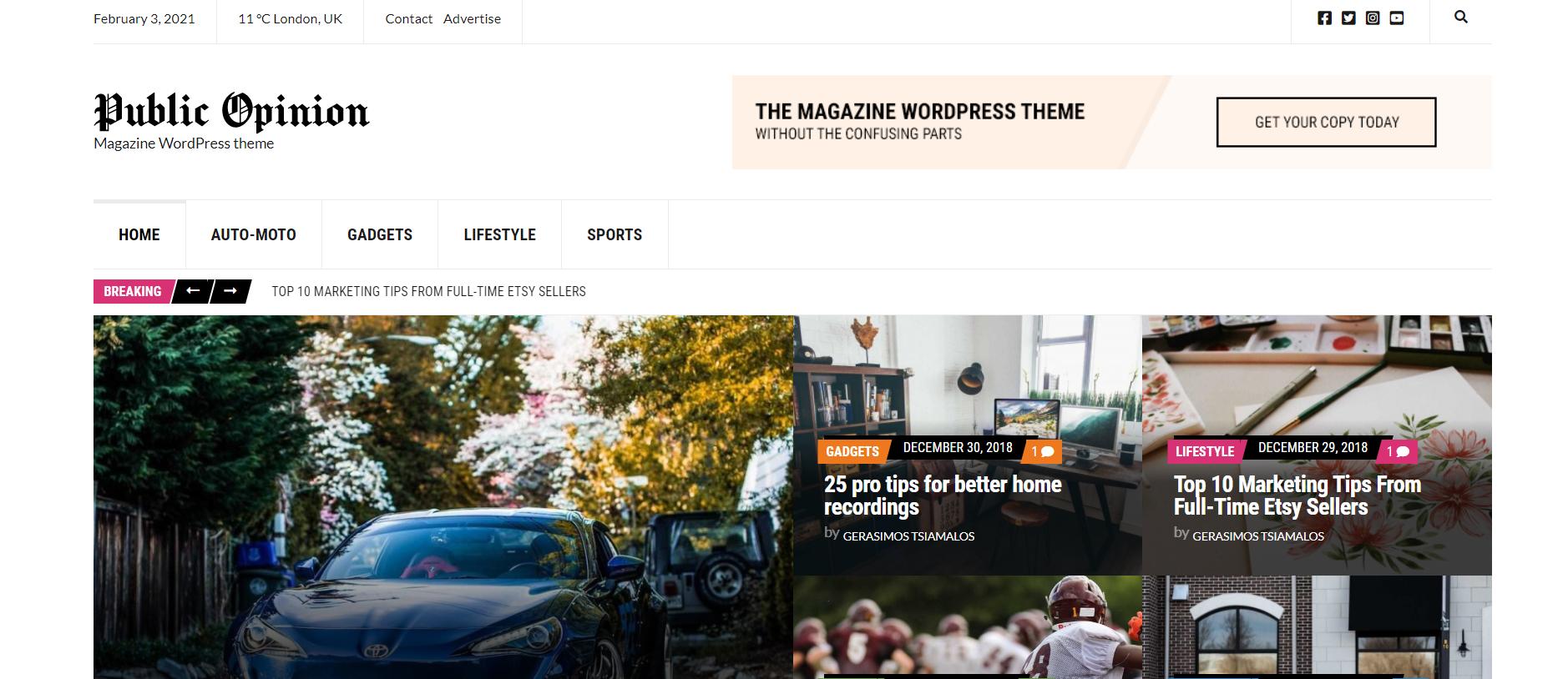 best blog theme on wordpress - Public Opinion