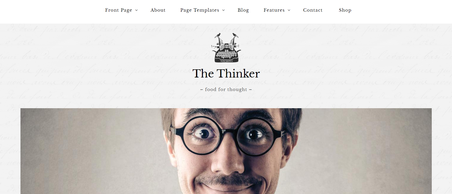 best wp theme - The thinker