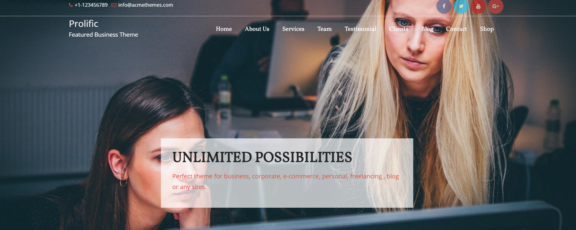 best wordpress free themes for business