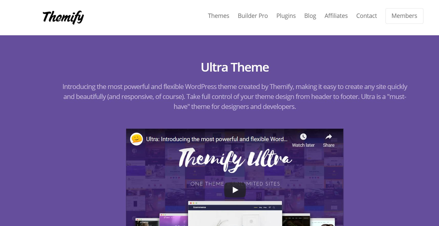 best multipurpose wordpress theme - Ultra
