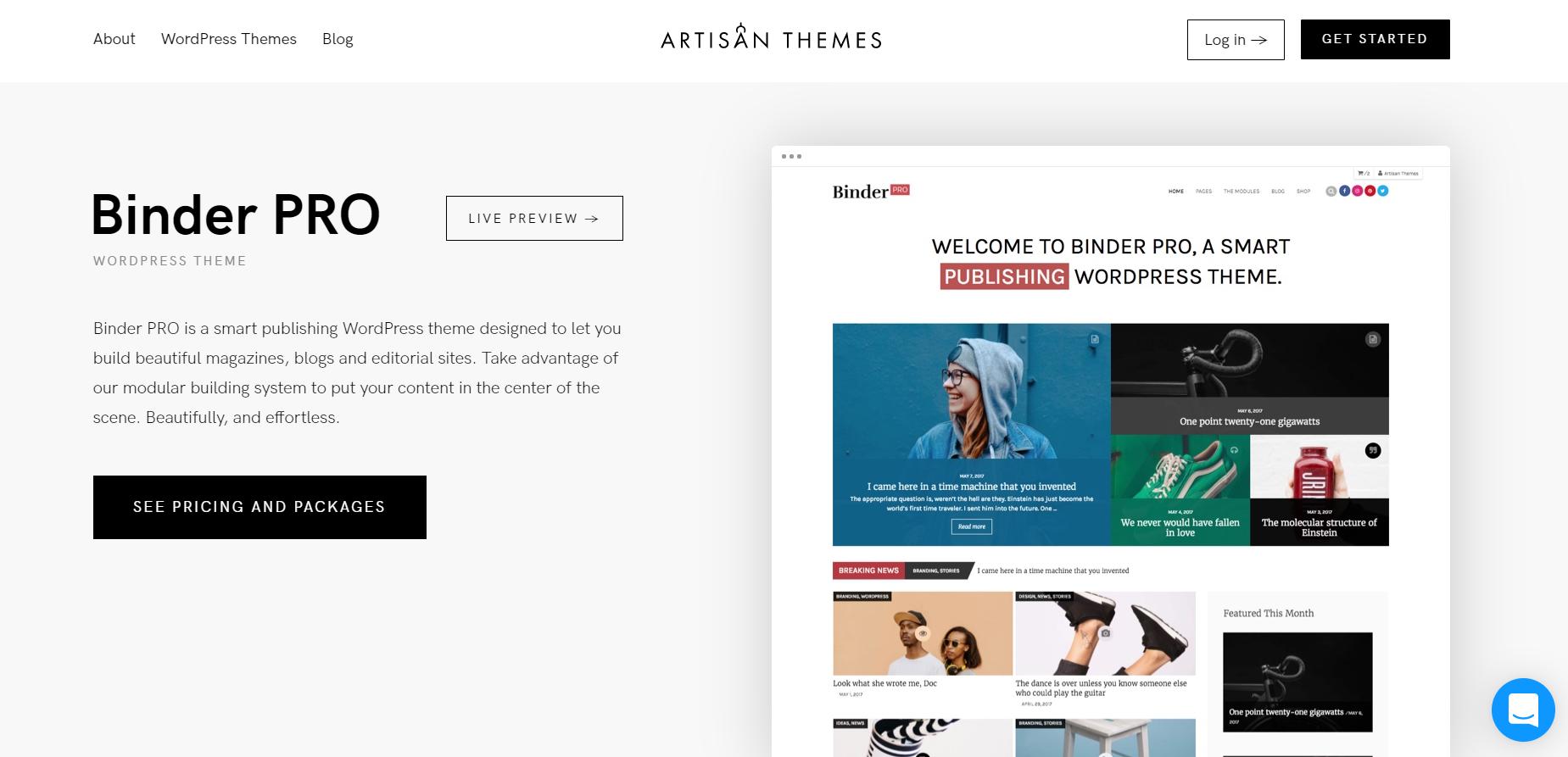binder pro wordpress theme