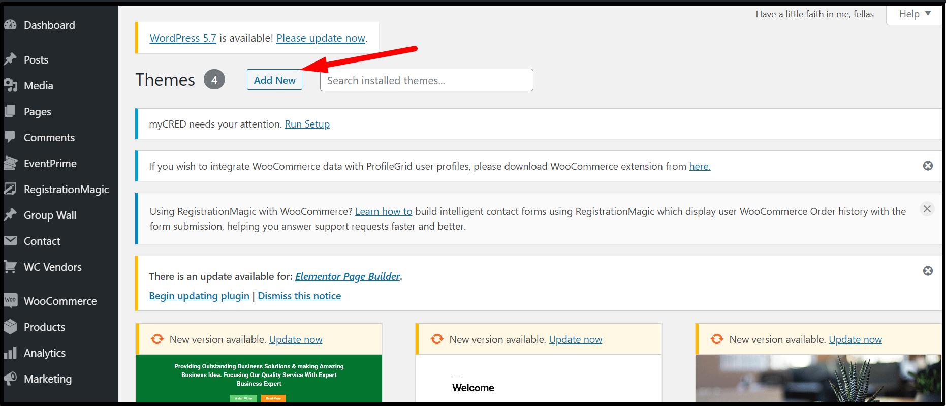 Add WordPress Membership Theme