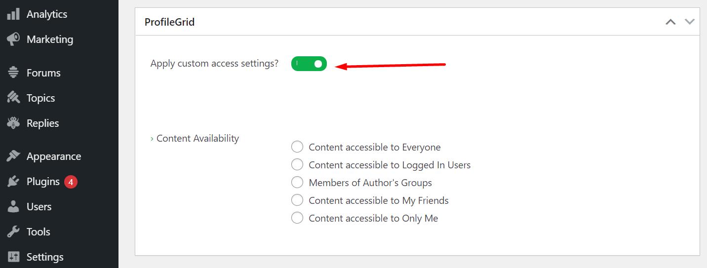 Content Restriction