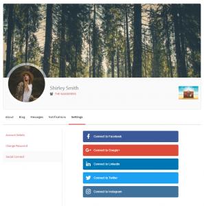 Social Settings on Profile